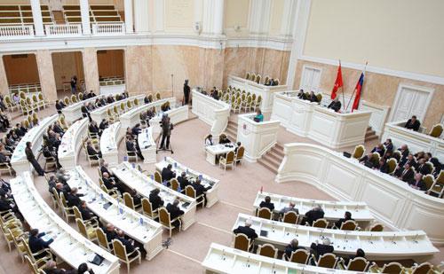 структура законодательного собрания санкт-петербурга
