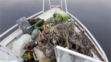 В Белозерском районе на одном озере изъяли более 40 браконьерских сетей