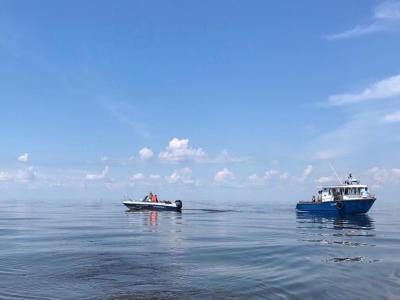 Завершились дноуглубительные работы в устье реки Ловать