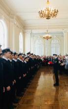Первокурсников Санкт-Петербургского морского рыбопромышленного колледжа торжественно посвятили в курсанты