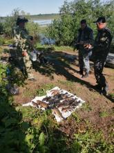 В ходе совместных рейдовых мероприятий на реке Кересть сотрудниками рыбоохраны по Новгородской области пресечена незаконная добыча (вылов) водных биологических ресурсов с применением ставных сетей