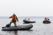Инспектора рыбоохраны по Республике Карелия совместно с сотрудниками ОМОН Управления Росгвардии по Республике Карелия проводят рыбоохранные мероприятия